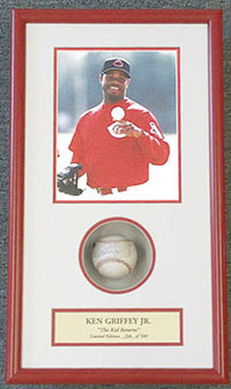"""Ken Griffey, Jr. 8"""" x 10"""" Photograph and Autographed Baseball in Deluxe Framed Shadow Box"""