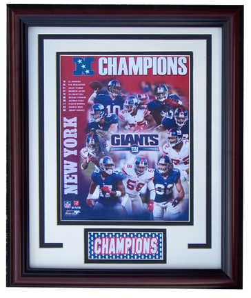 "New York Giants ""NFC Champions"" Photograph in a 11"" x 14"" Deluxe Frame"