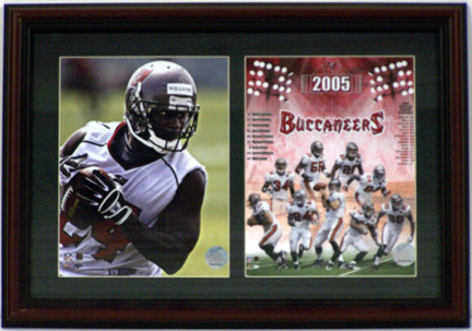 """Carnell """"Cadillac"""" Williams Tampa Bay Buccaneers Deluxe Framed Dual 8"""" x 10"""" Photographs"""