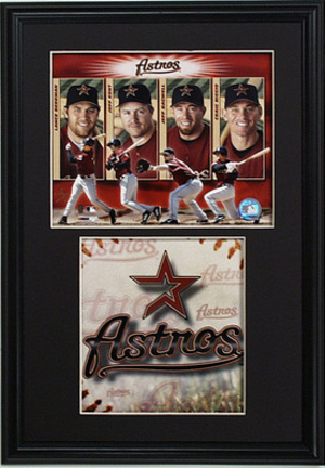 "Houston Astros ""Big 4"" Deluxe Framed Dual 8"" x 10"" Photographs"