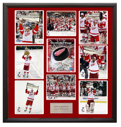 """Detroit Red Wings Photo Collage in a 36"""" x 44"""" Deluxe Frame"""