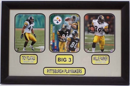 """Pittsburgh Steelers 2005 Photo Collage in a 20.5"""" x 31.5"""" Deluxe Frame"""