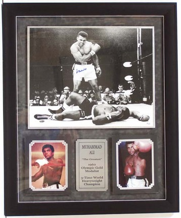 "Muhammad Ali Framed Photo Collage with Autographed ""The Greatest"" 16"" x 20"" Photograph"