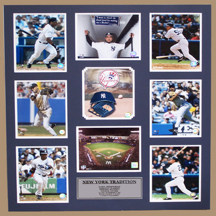 """New York Yankees """"Tradition"""" Photo Collage in a 36"""" x 44"""" Deluxe Frame"""