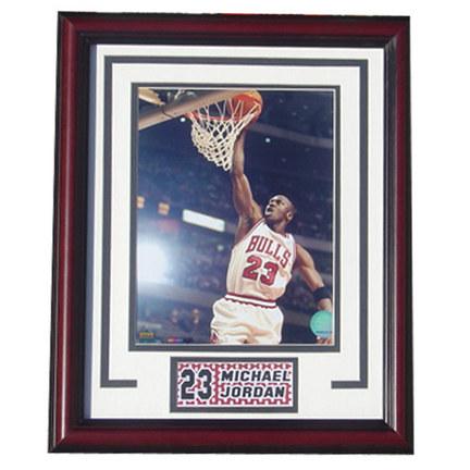 "Michael Jordan Photograph in an 13"" x 16"" Deluxe Frame"
