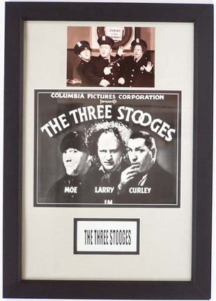 "Three Stooges Framed 12"" x 18"" Photograph Collage"