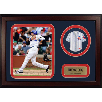 """Mark DeRosa Photograph with Team Jersey Patch in a 12"""" x 18"""" Deluxe Frame"""