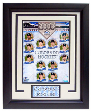"""2008 Colorado Rockies Photograph in a 11"""" x 14"""" Deluxe Frame"""