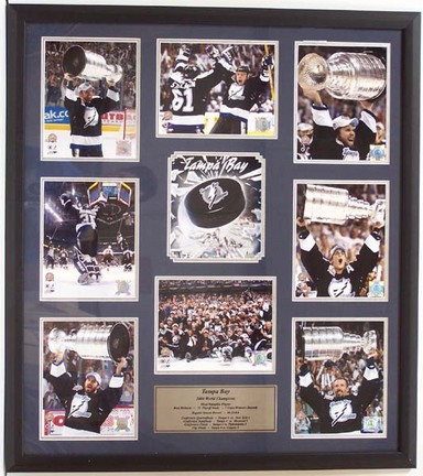 "Tampa Bay Lightning """"World Champions"""" Photo Collage in a 36"""" x 44"""" Deluxe Frame"" ENC-PRD-BDD1183"