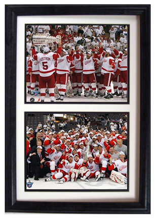 """Detroit Red Wings """"Celebration"""" Deluxe Framed Dual 8"""" x 10"""" Photographs"""