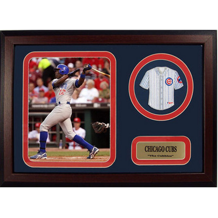 "Alfonso Soriano Photograph with Team Jersey Patch in a 12"" x 18"" Deluxe Frame"