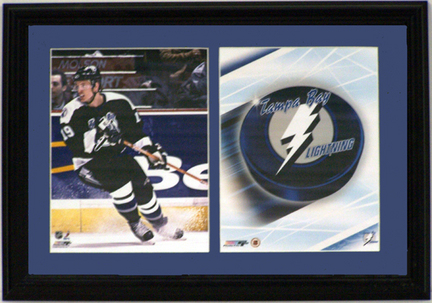 """Brad Richards of the Tampa Bay Lightning Deluxe Framed Dual 8"""" x 10"""" Photographs"""