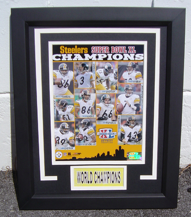 """Pittsburgh Steelers Super Bowl Champions Photograph in a 13"""" x 16"""" Deluxe Frame"""