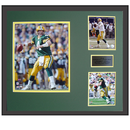 "Brett Favre Autographed 8"" x 10"" Photograph in a 30"" x 34"" Deluxe Framed Collage"