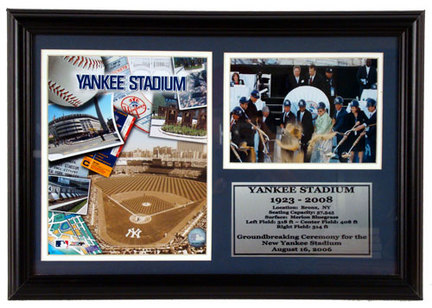 "New York Yankees ""Ground Break"" Deluxe Framed Collage"