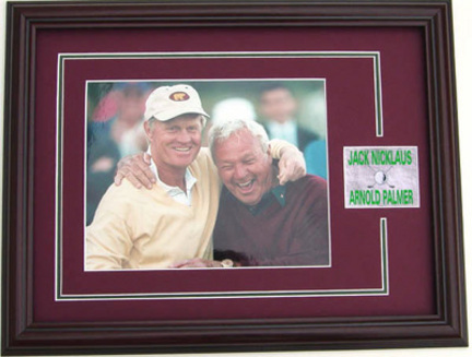 "Jack Nicklaus and Arnold Palmer 8"""" x 10"""" Photograph in a Deluxe Frame"" ENC-PRD-F633238"