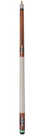 "58"" Competition White / Brown Handle Billiard Cue from Mizerak™"