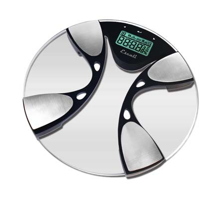 Glass Body Fat / Body Water Bathroom Digital Scale (440 lb. / 200 Kg Capacity)