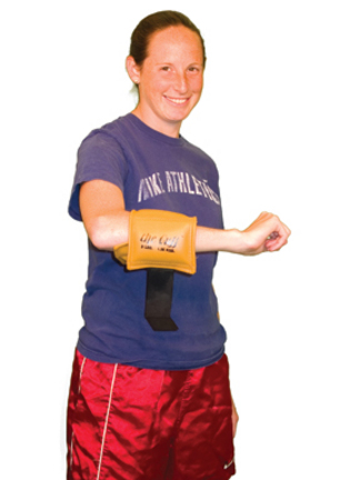 Cuff Rehabilitation 3 lb. Ankle and Wrist Weight (Gold)
