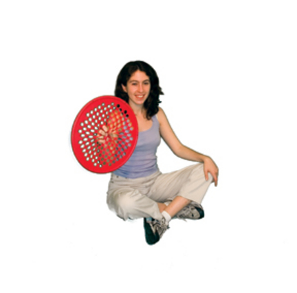 "Cando 14"" Low Powder Red Hand Exercise Web (Light)"