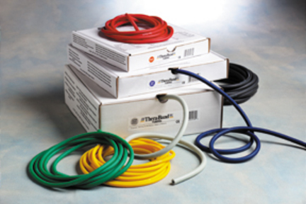 Thera-Band® Tubing Light Prescription Pack (Yellow, Red, Green)