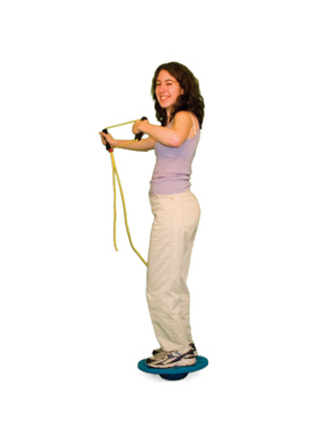 "Cando Board-on-Stone Balance Trainer (7"" Stone and 16"" Board)"