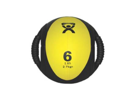 Cando Dual-Handle 6 lb. Medicine Ball - Yellow