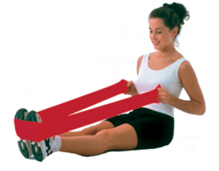 Cando No Latex 6 Yard Red Exercise Band (Light)