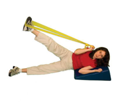 Cando No Latex 4' Ready-To-Use Yellow Exercise Band - Dispenser Box of 40 (X-Light)