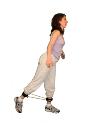 Cando Green Exercise Tubing with Ankle Cuffs - Medium