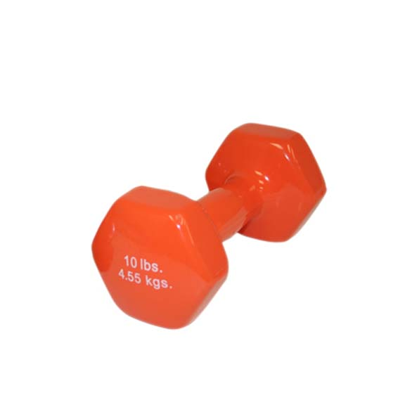 10 lb. Cast Iron Vinyl Coated Dumbbell (Orange)