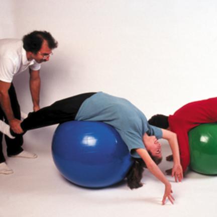 "Cando 18"" Inflatable Exercise Ball - Yellow"