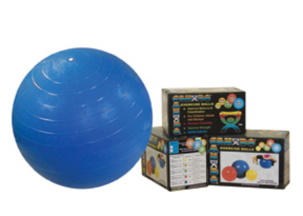 """30"""" Cando® Inflatable Exercise Ball (Red)"""