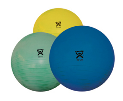 """34"""" Cando® Deluxe Extra Thick Inflatable Exercise Ball (Blue)"""