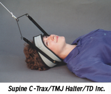 Supine C-Trax® Cervical Traction Unit with TMJ Halter