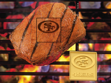 San Francisco 49ers Fan Brand (Set of 2) - Branding Irons