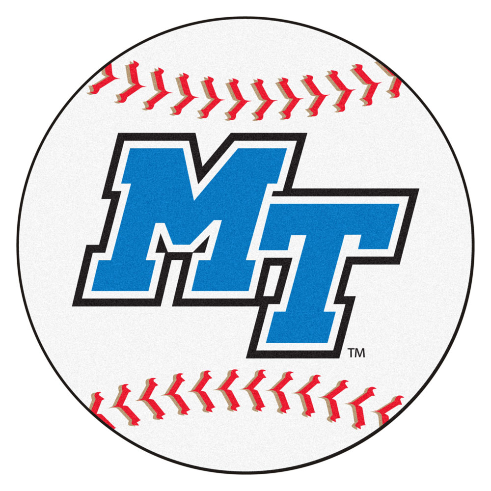 """Middle Tennessee State Blue Raiders 27"""" Round Baseball Mat"""