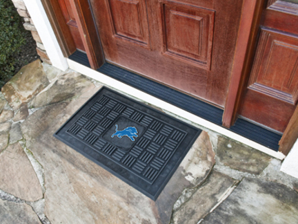 "Detroit Lions 19"" x 30"" Medallion Door Mat"