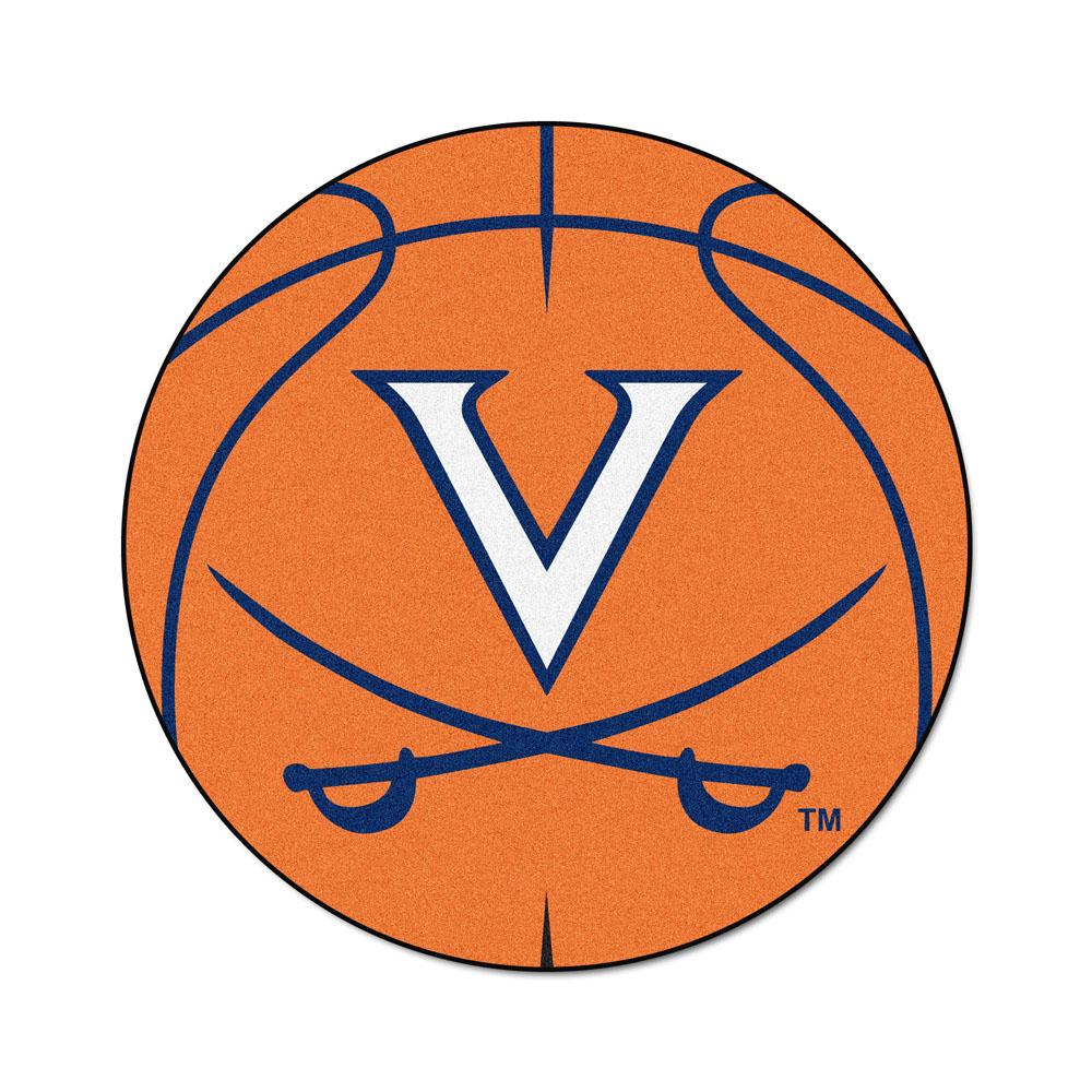 "Virginia Cavaliers 27"" Round Basketball Mat"