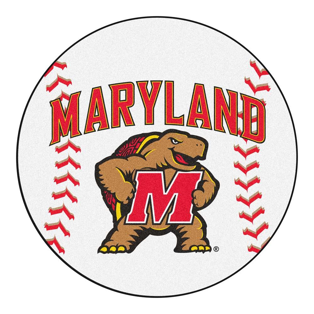 "27"" Round Maryland Terrapins Baseball Mat"
