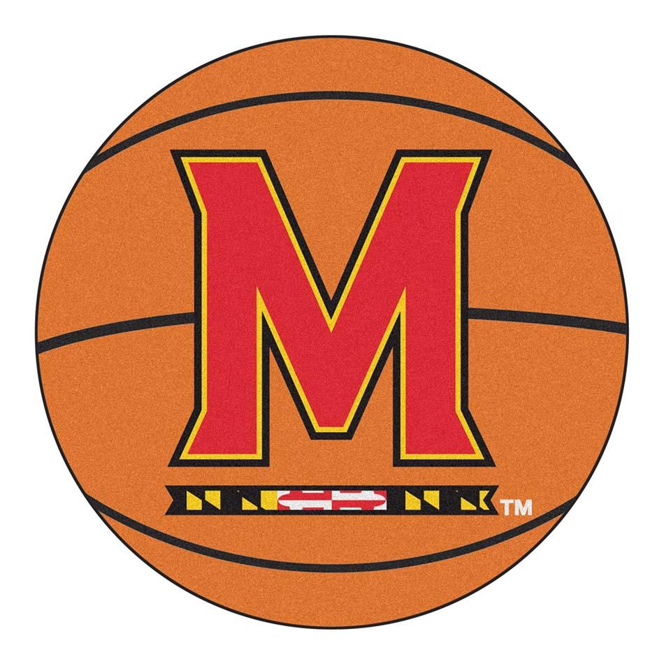 "27"" Round Maryland Terrapins Basketball Mat"