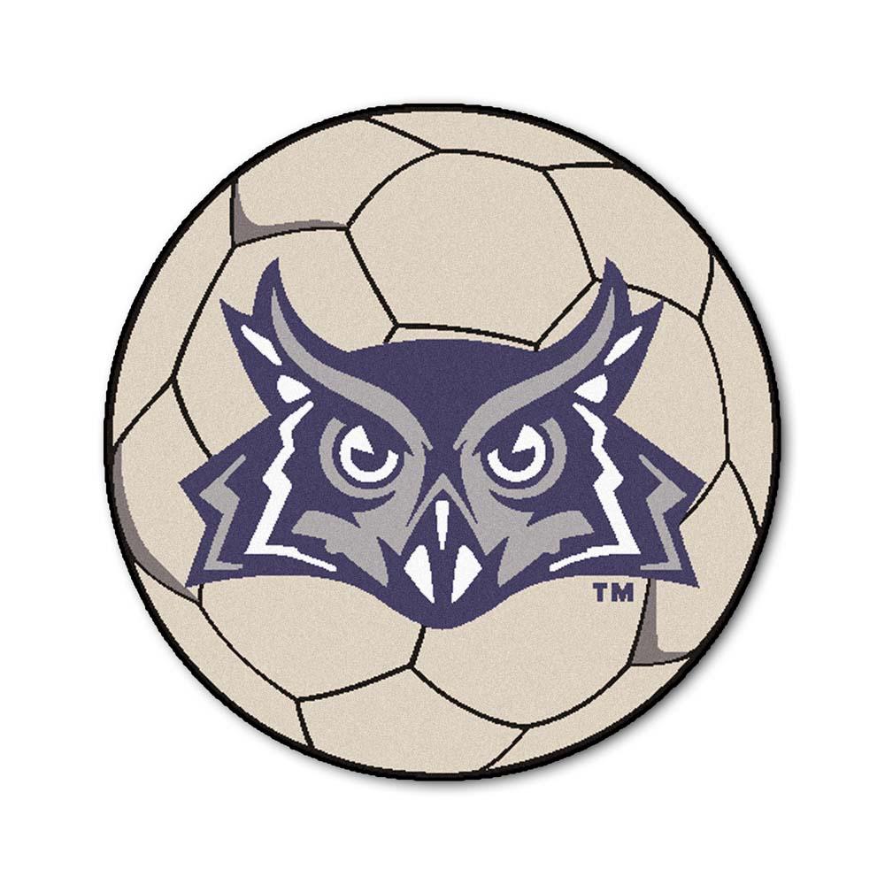 "27"" Round Rice Owls Soccer Mat"