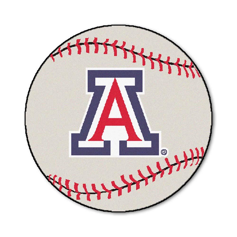 """27"""" Round Arizona Wildcats Baseball Mat"""