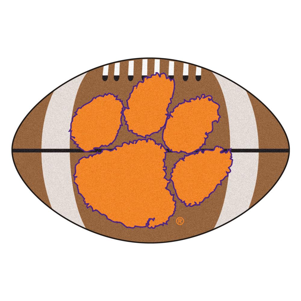 """22"""" x 35"""" Clemson Tigers Football Mat"""