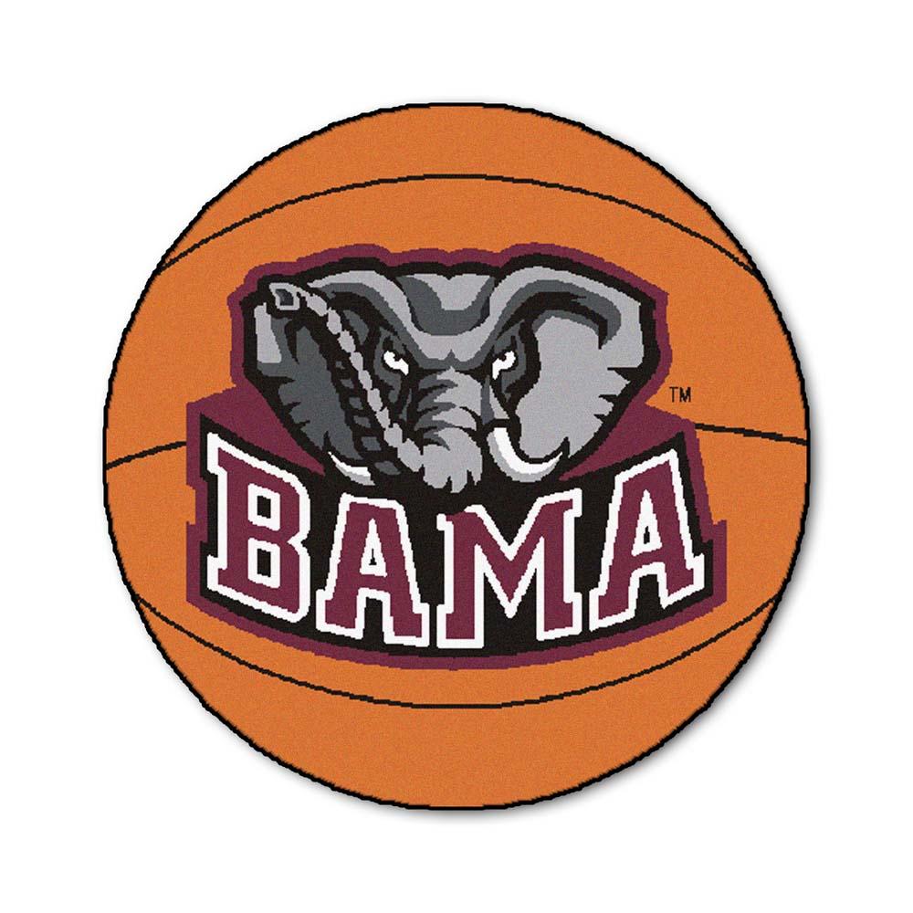 "27"" Round Alabama Crimson Tide Basketball Mat"