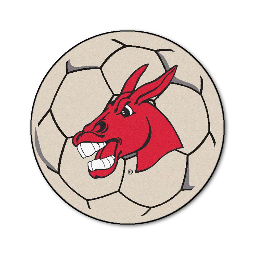 """27"""" Round Central Missouri State Fighting Mules Soccer Mat"""