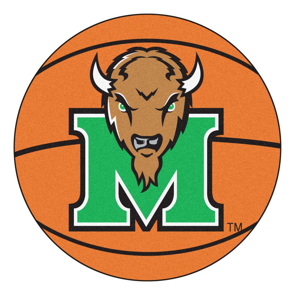 27 Round Marshall Thundering Herd Basketball Mat