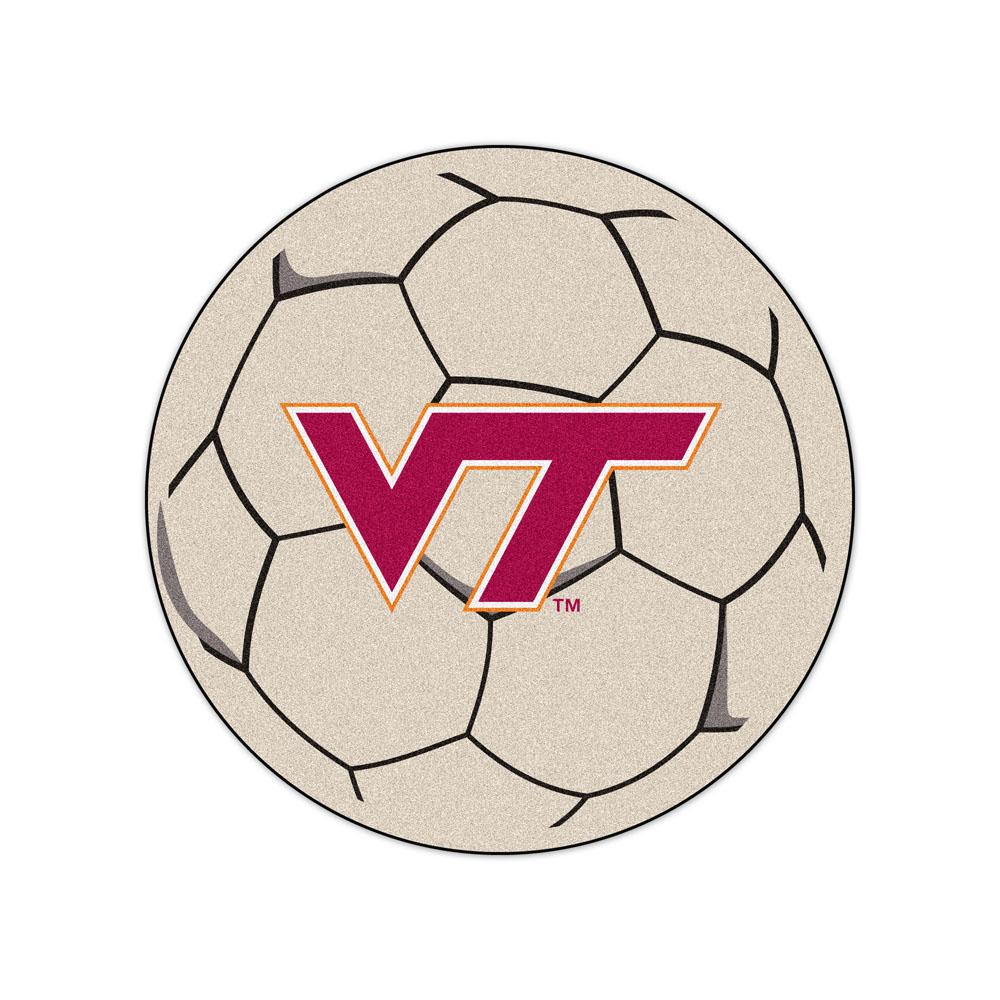 "27"" Round Virginia Tech Hokies Soccer Mat"