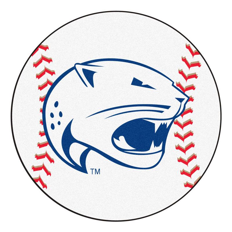 """27"""" Round South Alabama Jaguars Baseball Mat"""