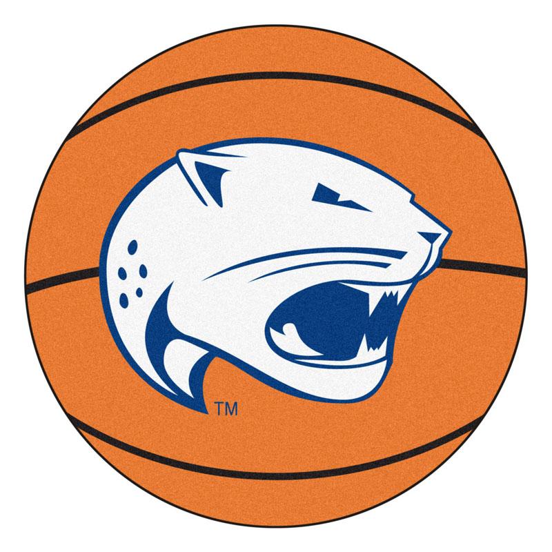 """27"""" Round South Alabama Jaguars Basketball Mat"""